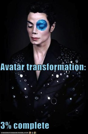 Avatar transformation: 3% complete