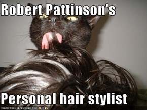 Robert Pattinson's  Personal hair stylist