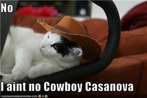 No  I aint no Cowboy Casanova