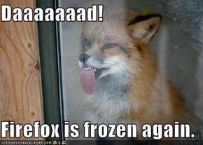 Daaaaaaad!  Firefox is frozen again.