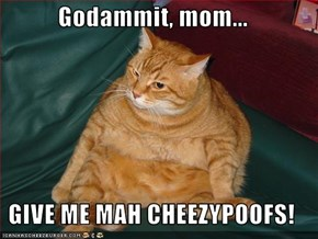 Godammit, mom...  GIVE ME MAH CHEEZYPOOFS!