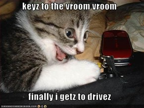 keyz to the vroom vroom   finally i getz to drivez