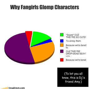 Why Fangirls Glomp Characters (To let you all know, this is Dj's friend Amy.)