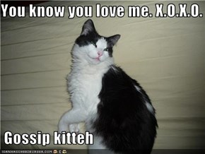 You know you love me. X.O.X.O.   Gossip kitteh
