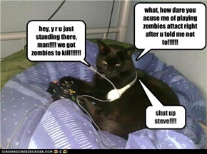 what, how dare you acuse me of playing zombies attact right after u told me not to!!!!!!