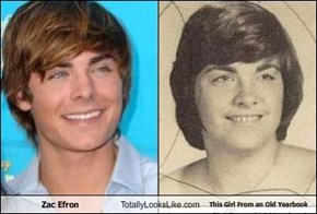 Zac Efron Totally Looks Like This Girl From an Old Yearbook