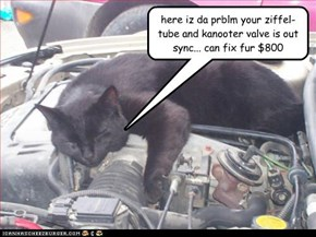 here iz da prblm your ziffel-tube and kanooter valve is out sync... can fix fur $800