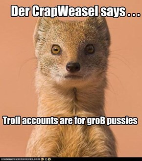Der CrapWeasel says . . .