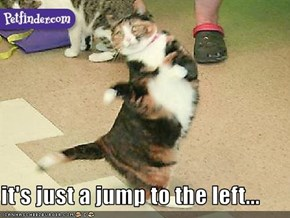it's just a jump to the left...
