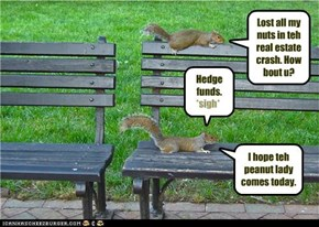 Lost all my nuts in teh real estate crash. How bout u?