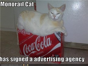 Monorail Cat  has signed a advertising agency