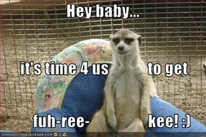 Hey baby...       it's time 4 us            to get           fuh-ree-                  kee! :)
