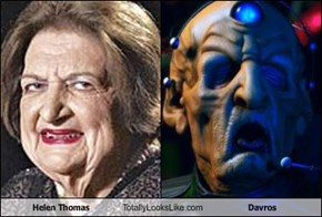 Helen Thomas Totally Looks Like Davros