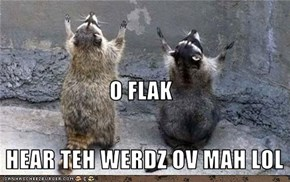O FLAK  HEAR TEH WERDZ OV MAH LOL