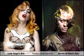Lady Gaga's Bra Totally Looks Like Seven of Nine's Eye