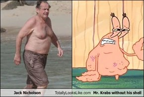 Jack Nicholson Totally Looks Like Mr. Krabs without his shell