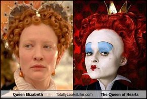 Queen Elizabeth Totally Looks Like The Queen of Hearts
