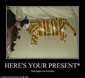 HERE'S YOUR PRESENT*