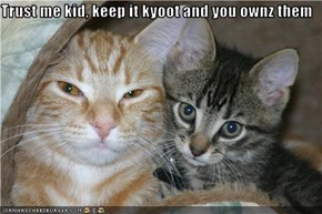 Trust me kid, keep it kyoot and you ownz them