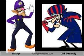 Waluigi Totally Looks Like Dick Dastardly