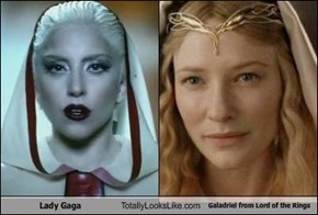 Lady Gaga Totally Looks Like Galadriel from Lord of the Rings
