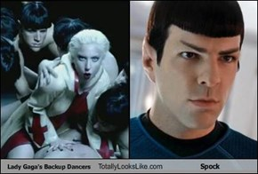 Lady Gaga's Backup Dancers Totally Looks Like Spock