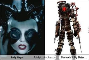 Lady Gaga Totally Looks Like Bioshock 2 Big Sister