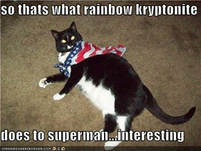so thats what rainbow kryptonite  does to superman...interesting