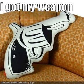 i got my weapon