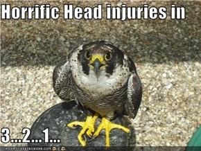 Horrific Head injuries in  3...2...1...