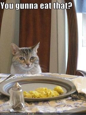 You gunna eat that?