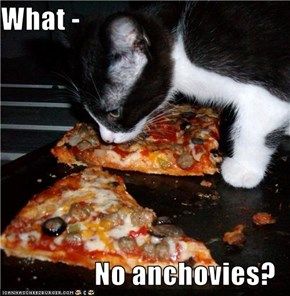 What -   No anchovies?