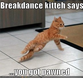 Breakdance kitteh says...  ...you got pawned