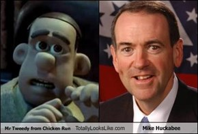 Mr Tweedy from Chicken Run Totally Looks Like Mike Huckabee