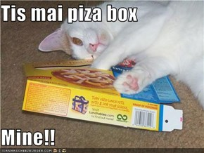 Tis mai piza box  Mine!!