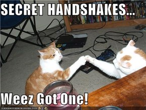 SECRET HANDSHAKES...  Weez Got One!