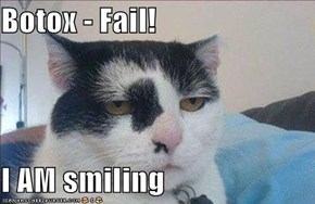 Botox - Fail!  I AM smiling