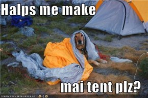 Halps me make  mai tent plz?
