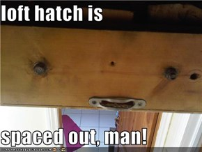 loft hatch is   spaced out, man!