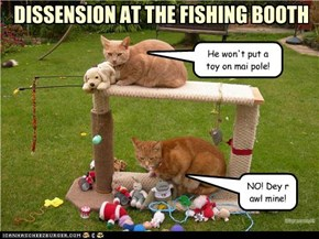 DISSENSION AT THE FISHING BOOTH