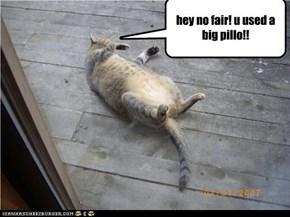 hey no fair! u used a big pillo!!