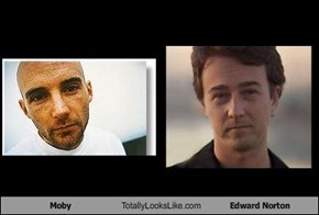 Moby Totally Looks Like Edward Norton