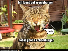 bill found out veggieburger