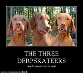 THE THREE DERPSKATEERS
