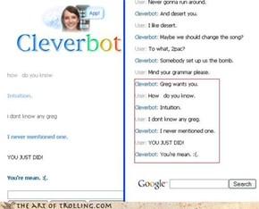 cleverbot keeps on trolling