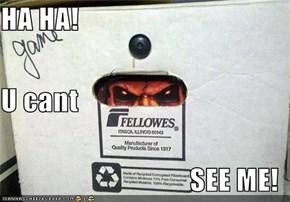HA HA! U cant SEE ME!