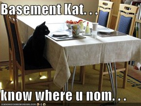 Basement Kat. . .  know where u nom. . .
