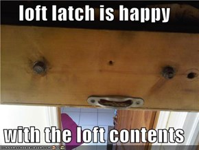loft latch is happy  with the loft contents