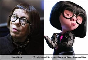 "Linda Hunt Totally Looks Like Edna Mode from ""The Incredibles"""