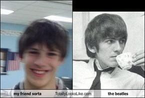 my friend sorta  Totally Looks Like the beatles